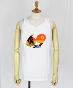 メンズ タンクトップ MEN SINGLET BALI VICE [MSNBVC-WH] WHITE