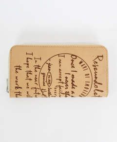 RESOUND CLOTHING / リサウンドクロージング / ナチュラル / Buttero Leather calligraphy wallet / NATURAL [RCQ-W-001]