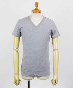 Tシャツ / S/S V-NECK TEE / GINZA LIMITED / [MRT163-COT239] / GRAY(95)