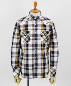チェックシャツ / James OLD CHECK shirt / YELLOW / [RC9-SH-001]