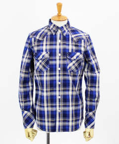 チェックシャツ / James OLD CHECK shirt / BLUE / [RC9-SH-001]