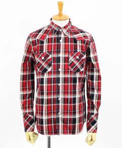 チェックシャツ / James OLD CHECK shirt / RED / [RC9-SH-001]