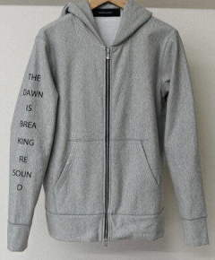 ジップパーカー / CUPURA inlay ZIP UP Hoodie / GREY / [RC9-C-002]