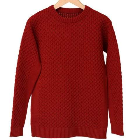 ★LEON12月号掲載★ cable knit / RED [RC10-K-001]
