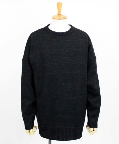 drop loose sweater / BLACK / [RC10-K-002]