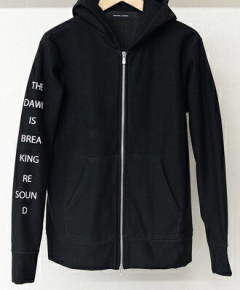 ジップパーカー / CUPURA inlay ZIP UP Hoodie / BLACK / [RC9-C-002]