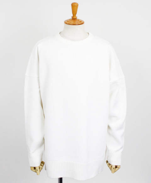 drop loose sweater / WHITE / [RC10-K-002]