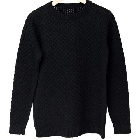 ★LEON12月号掲載★ cable knit / BLACK [RC10-K-001]