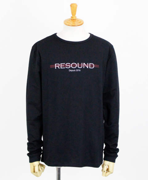 RC11 LINE ROGO LONG T SHIRT / BLACK [RC11-T-004-BLACK]