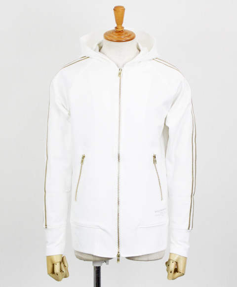 RC11 LINE ZIP HOODIE / WHITE GOLD [RC11-C-001-WHITEGOLD]