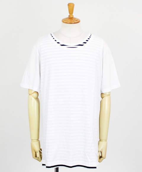 RC11 loose layered TEE / WHBORDER [RC11-T-005-WHBORDER]