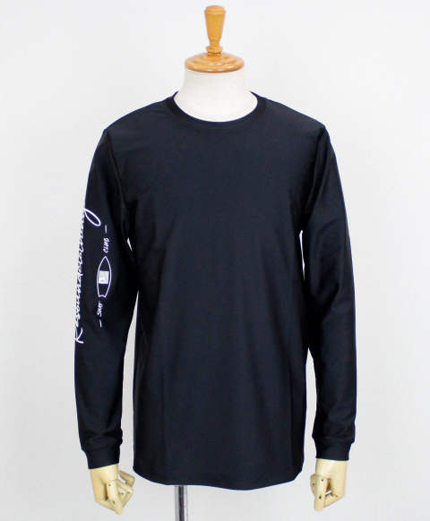 SLEEVECLUB LONG RUSH TEE / BLACK×WHITE / [RC12-T-014]