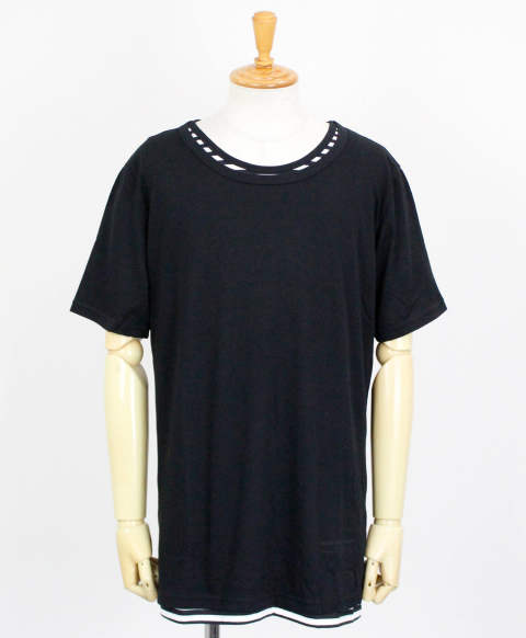 RC11 loose layered TEE / BKBORDER [RC11-T-005-BKBORDER]