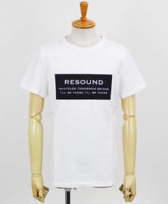 BOX ID ROGO TEE / WHITE×BLACK【RC12-T-006】