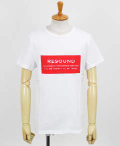 BOX ID ROGO TEE / WHITE×RED【RC12-T-006】