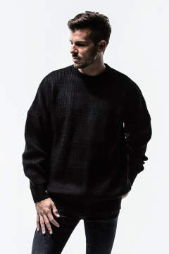 RESOUND CLOTHING / リサウンドクロージング / AZE loose sweater / BLACK