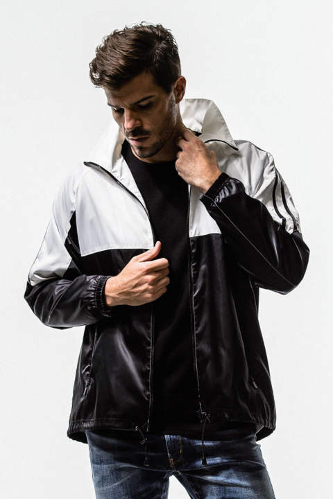 RESOUND CLOTHING / リサウンドクロージング / SATIN OVER Track Jacket / BKWH [RC14-C-003]