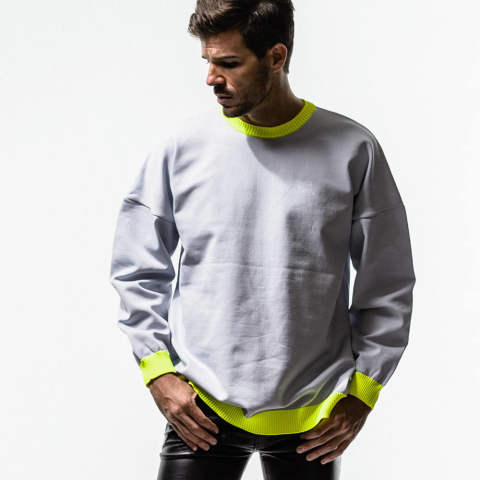 RESOUND CLOTHING / リサウンドクロージング / Jersey loose sweater / GREY [RC14-K-003]