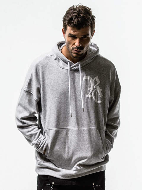 RESOUND CLOTHING / リサウンドクロージング / Boa fleece loose hoodie / GREY [RC14-C-002]