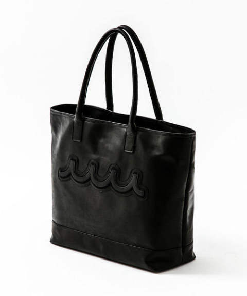 ACANTHUS×muta / アカンサス×ムータ / トートバッグ / ブラック / ACANTHUS×muta light weight leather muta tote bag / black