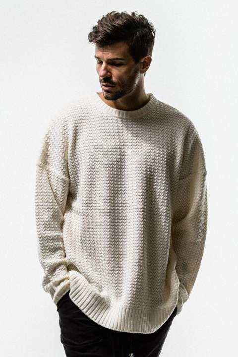 RESOUND CLOTHING / リサウンドクロージング / weaving stitch loose sweater / OFF