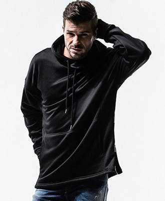 Boa fleece jersey loose hoodie / BLACK / [RC13-C-002]