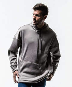 Boa fleece jersey loose hoodie / GREY / [RC13-C-002]