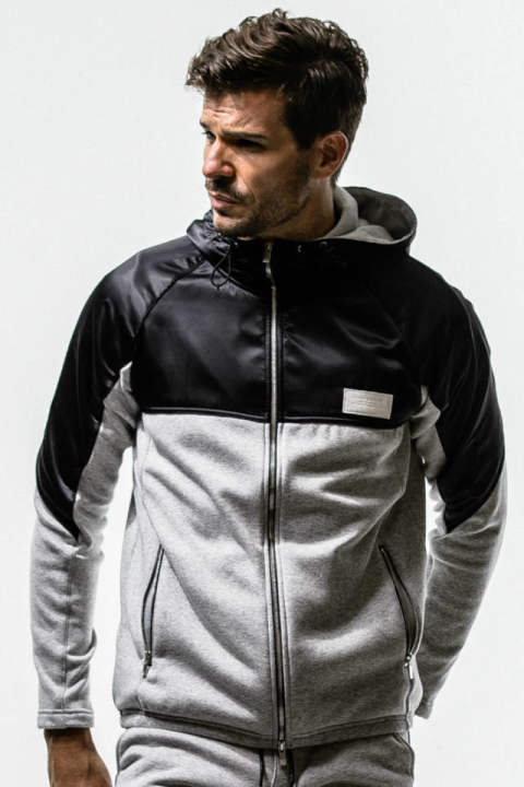 WARM-UP fleece ZIP Hoodie / GREY / [RC14-C-001]