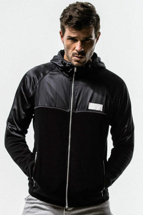 WARM-UP fleece ZIP Hoodie / BLACK / [RC14-C-001]