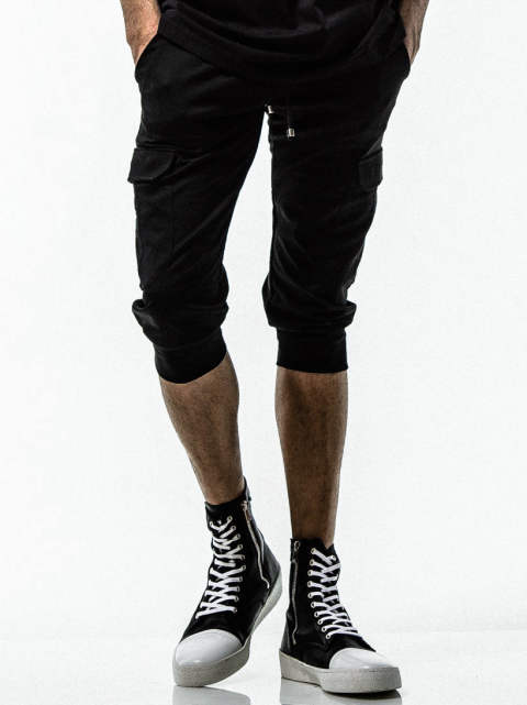 CARGO CROPPED PT / BLACK [RC15-HP-012]