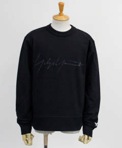 ロゴ クルーネックスウェット M DISTRESSED SIGNATURE CREW SWEATSHIRT [FP8689-APPS20] BLACK