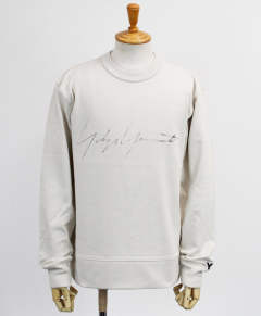 ロゴ クルーネックスウェット M DISTRESSED SIGNATURE CREW SWEATSHIRT [FP8690-APPS20] ECRU