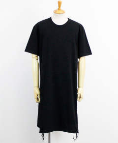 A Tied Short Sleeve Cut Sew  ブラック [GN-T02-040-2S20]